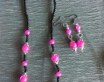 Necklace  and earrings set handcrafted