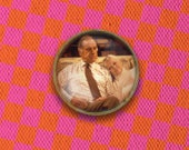 As Time Goes By Jean & Lionel Judi Dench Pin, Magnet, Keychain, or Necklace