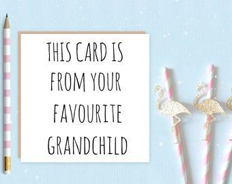 Favourite Grandchild card - FREE DELIVERY