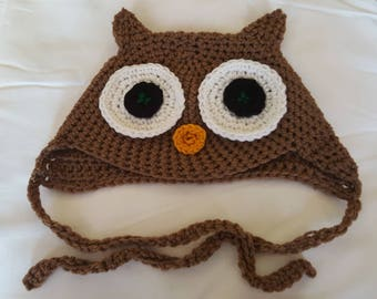 Toddlers owl hat