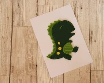 Dinosaur felt art