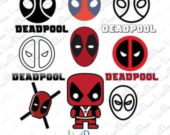 Deadpool Svg Dxf Eps Png Pdf deadpool art deadpool logo deadpool ornament deadpool gifts deadpool dxf deadpool decor superhero svg cut file