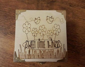 Wooden 'Sweet Little Things' Box