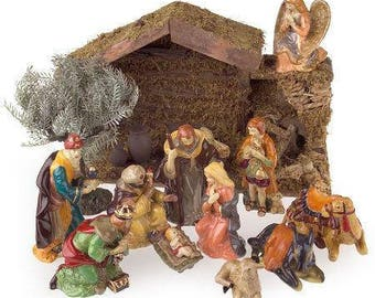 Hand-painted Porcelain Nativity Set - 10 Piece - Thomas Pacconi