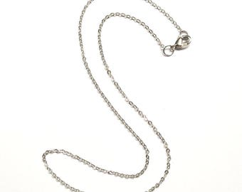2 Cable 15 Inch Chain, Necklace Chain, Silver Chain, Jewelry Supply, Craft Supplies, Finished Chain, Choker