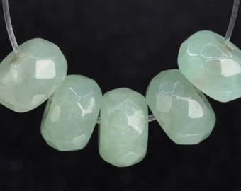 78 / 40 Pcs - 8x5MM Parsley Bunch Aventurine Beads Grade AAA Genuine Natural Faceted Rondelle Gemstone Loose Beads (103237)