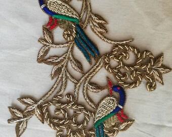 oiseaux brodés,embroidered birds