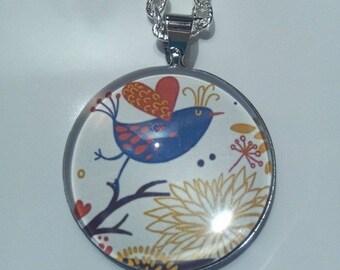 Little Blue Bird silver necklace