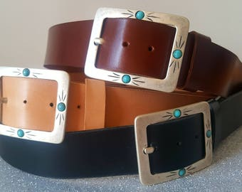 Cowhide Leather Belt 4cm