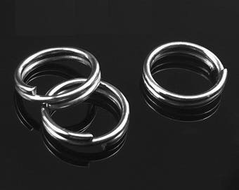 set of 50 double ring 7mm Platinum