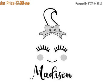 ON SALE Ghost Face, Ghost with Eyelashes, Halloween SVG, Hallowen Cute File, Dxf Jpg For Personal or Commerical Use