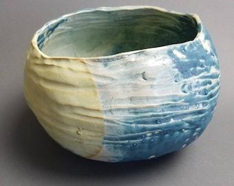 Blue Ocean pinch pot