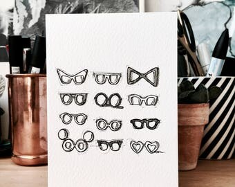 Glasses Card