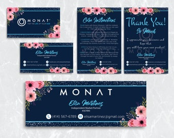 Monat Starter kit, Custom Monat Business Card, Monat Hair Care, Monat Global, Monat Thank You Card, Monat Facebook, Printable Card MN20
