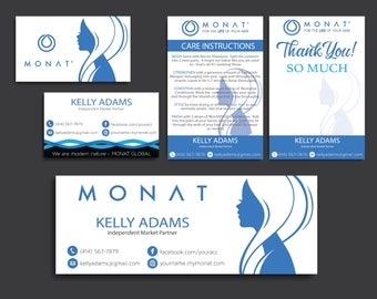 Monat Package, Custom Monat Business Card, Monat Hair Care, Monat Global, Monat Thank You Card, Monat Facebook, Printable Card MN10
