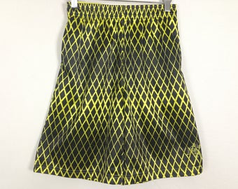 Neon yellow fence shorts size S