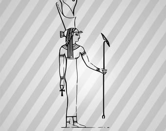 Egyptian Godess Isis - Svg Dxf Eps Silhouette Rld Rdworks Pdf Png Ai Files Digital Cut Vector File Svg File Cricut Laser Cut