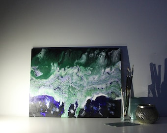 River Angst - acrylic pour abstract painting