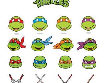 Ninja Turtles Svg/Eps/Png/Jpg/Cliparts,Printable, Silhouette and Cricut File !!!
