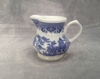 Churchill Willow Pattern china milk jug