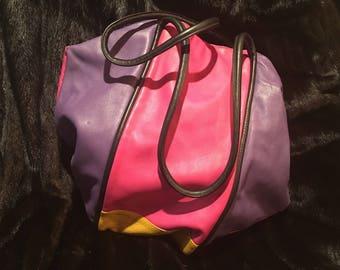 Carla Malchi Multi-Colored Leather Handbag