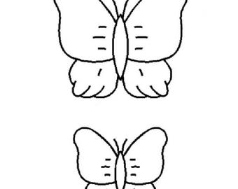 "Butterfly 3"" and 2"" Quilting Stencil - 0001"