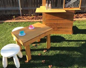 Kids Cafe with Table and Stools