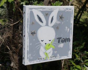 Painting rabbit painting child birth