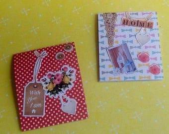 Set of 2 magnetic bookmarks theme: Sweet home