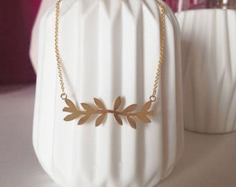 """Necklace """"Stamen"""" plated gold"""