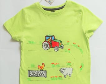 Child t-shirt in pure cotton, tg. 5 years-farm