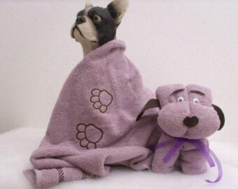 Model dog custom towel