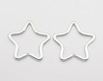 SET of 10 Star for 34mm new key rings