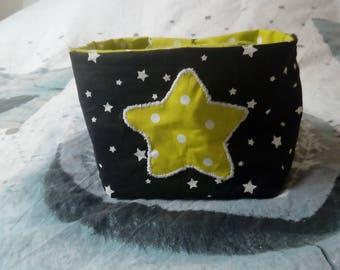 Reversible fabric basket stars