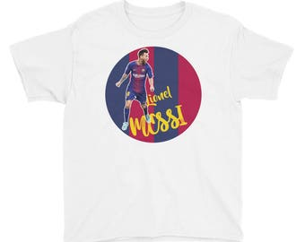 Messi Kids T-shirt | Cool FC Barcelona Messi Design T-shirt |