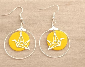 earrings ring cocots yellow and silver