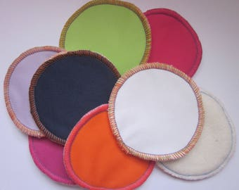 Washable nursing pads with pul waterproof furnished