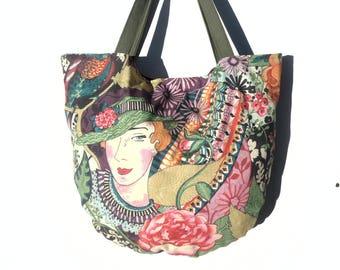 Bag / Tote / fabric / Art Deco style.