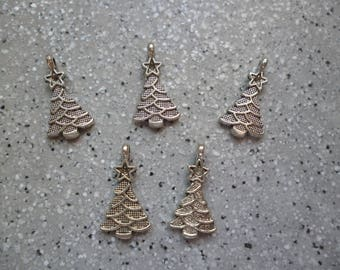 5 charm tree in silver 20 mm