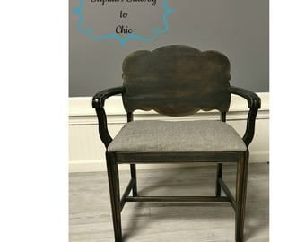 Distressed antique side chair