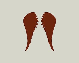 Adhesive vinyl stencil. Angel wings. Angel (ref 121)