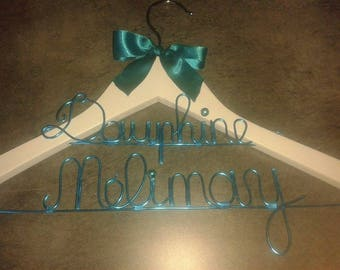 personalized for wedding, christening 2lines hanger