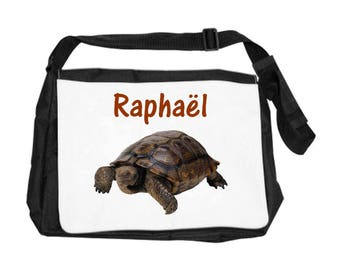 Turtle bag personalized with name