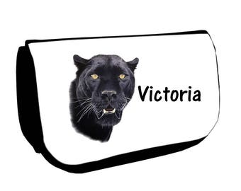 Black up /crayons Black Panther bag personalized with name
