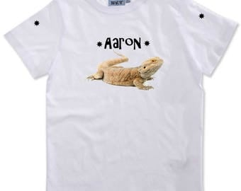 Pogona boy personalized with name t-shirt