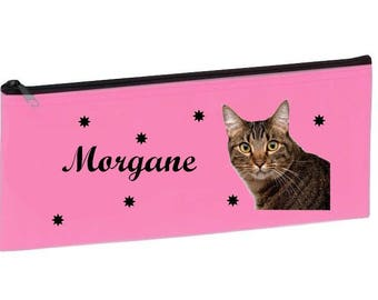 Personalized with name pink cat School Kit
