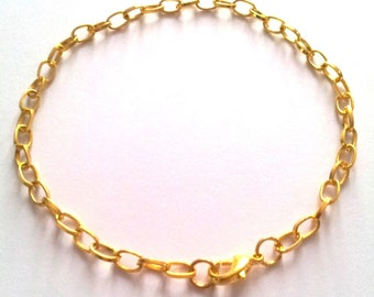 Set of 2 bracelets - gold metal - length 21 cm T42