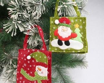 16 * 16cm: pouch/bag felt Christmas spirit shoulder 2 designs to choose from