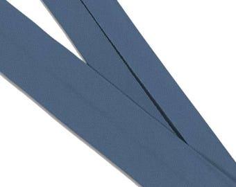 Organic cotton bias. Blue serenity. Préplié ·  50 cm
