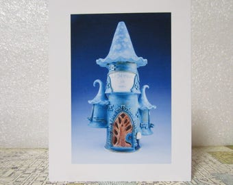 Note card of Photo of Gnome Home-1  by Beverly Gordon